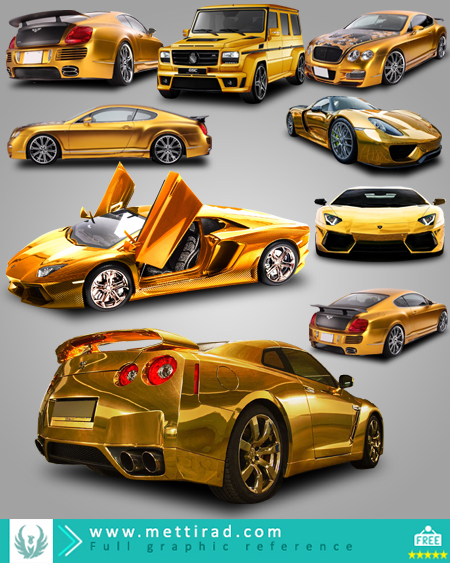 Set_Of_Gold_Car